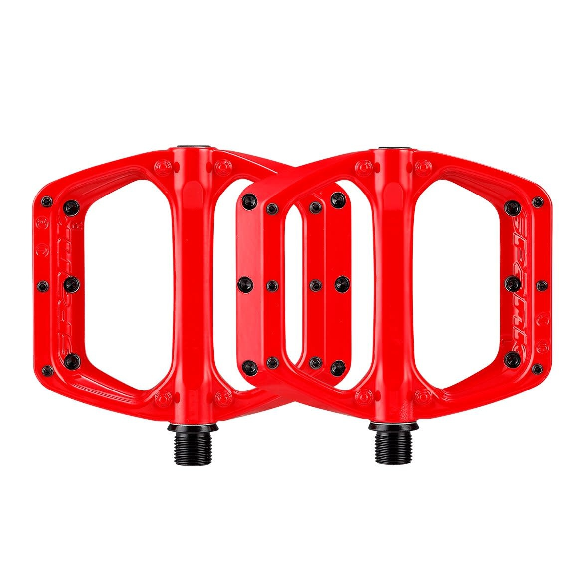 Spank Spank, SPOON DC, Platform Pedals, Body: Aluminum, Spindle: Cr-Mo, 9/16'', Red, Pair