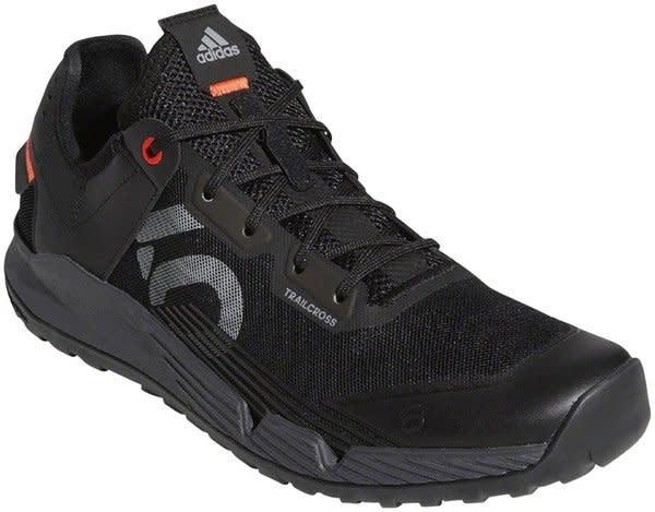Five Ten Five Ten Trailcross LT Men's Flat Shoe: Black/Gray Two/Solar Red 9.5