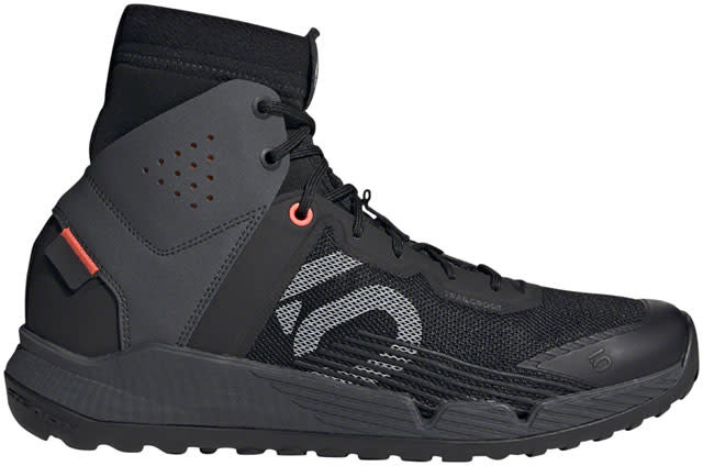 Five Ten Five Ten Trailcross Mid Pro Men's Flat Shoe: Black/Gray Two/Solar Red 10