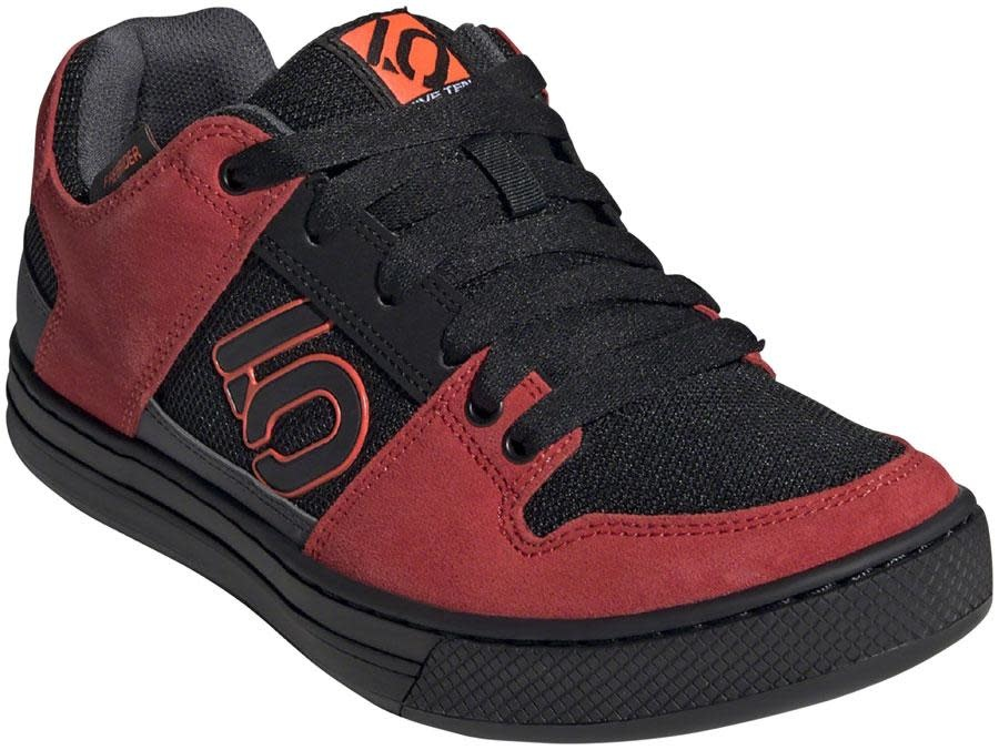 Five Ten Five Ten Freerider Men's Flat Shoe: Black/Solar Red/Gray Six 12