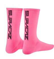 Supacaz Supacaz, Straight Up, Socks, Neon Pink/Black, LXL, Pair