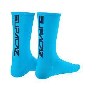 Supacaz Supacaz, Straight Up, Socks, Neon Blue/Black, SM, Pair