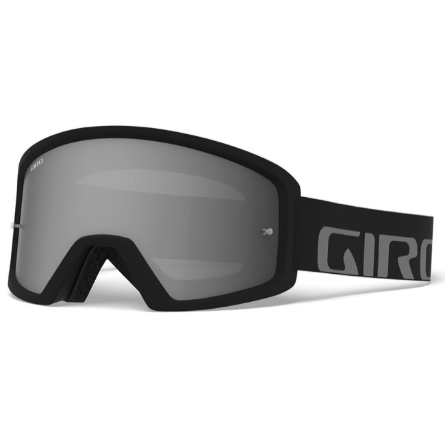 Giro Cycling Giro Tazz MTB Goggle for Dirt Biking - Black/Grey - Smoke Lens (+ Bonus Clear Lens)
