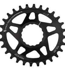 Wolf Tooth Components Wolf Tooth Components Elliptical Cinch Reverse-Dish Chainring, 30T - Bk  NLS