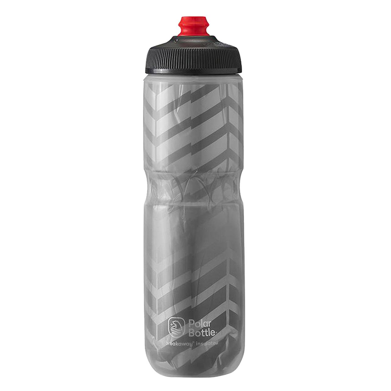 Polar Bottle Polar, Breakaway Insulated 24oz, Water Bottle, 710ml / 24oz, Charcoal/Silver