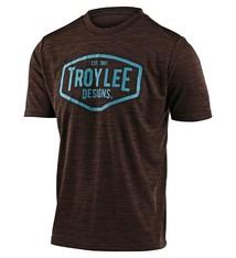 Troy Lee Designs FLOWLINE SS JERSEY; STATION HEATHER DARK MOKA / BLUE LG