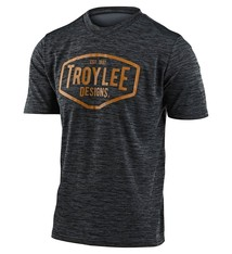 Troy Lee Designs FLOWLINE SS JERSEY; STATION HEATHER BLACK / YELLOW LG