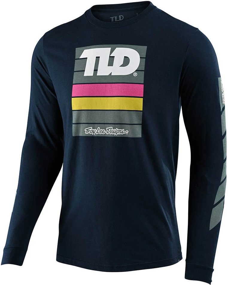 Troy Lee Designs PREGAME L/S TEE; NAVY MD