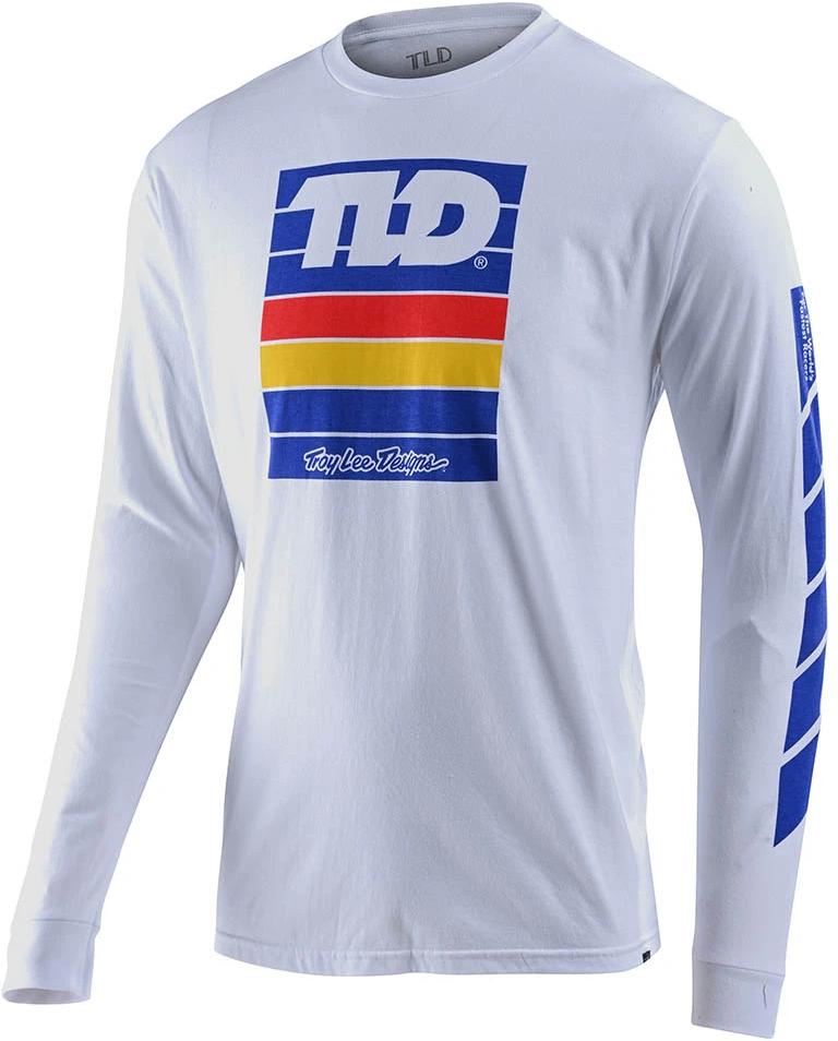 Troy Lee Designs PREGAME L/S TEE; WHITE MD