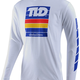 Troy Lee Designs PREGAME L/S TEE; WHITE XL