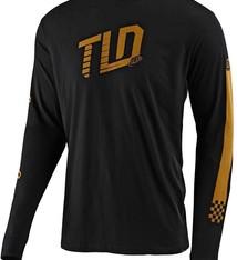 Troy Lee Designs TRACKSIDE L/S TEE; BLACK MD