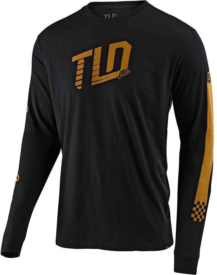 Troy Lee Designs TRACKSIDE L/S TEE; BLACK MD