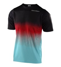 Troy Lee Designs SKYLINE SS JERSEY; STAIN'D BLACK / TURQUOISE MD