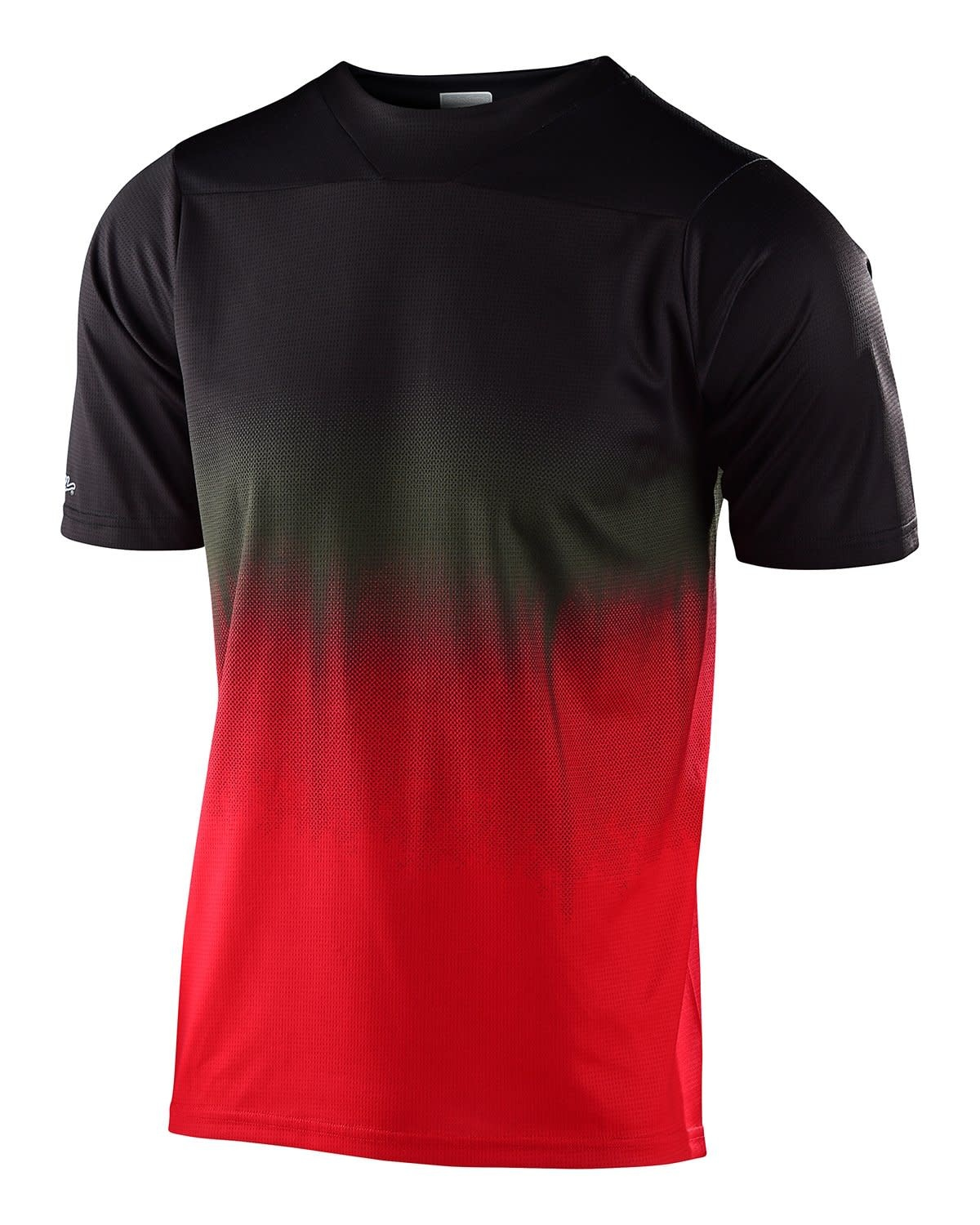 Troy Lee Designs SKYLINE SS JERSEY; STAIN'D BLACK / RED MD