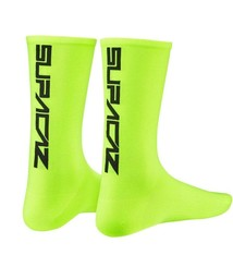 Supacaz Supacaz, Straight Up, Socks, Neon Yellow/Black, LXL, Pair