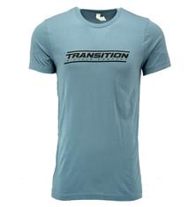 Transition T-Shirt: Transition Logo (Steel Blue, Small)