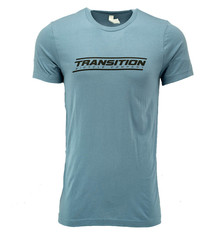 Transition T-Shirt: Transition Logo (Steel Blue, Medium)