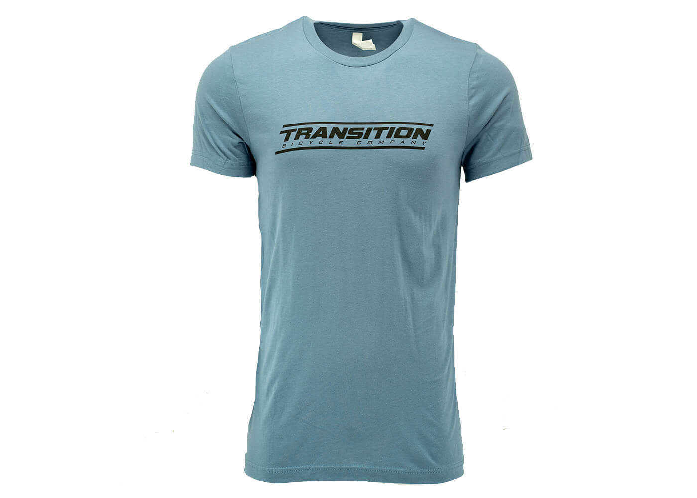 Transition T-Shirt: Transition Logo (Steel Blue, Large)