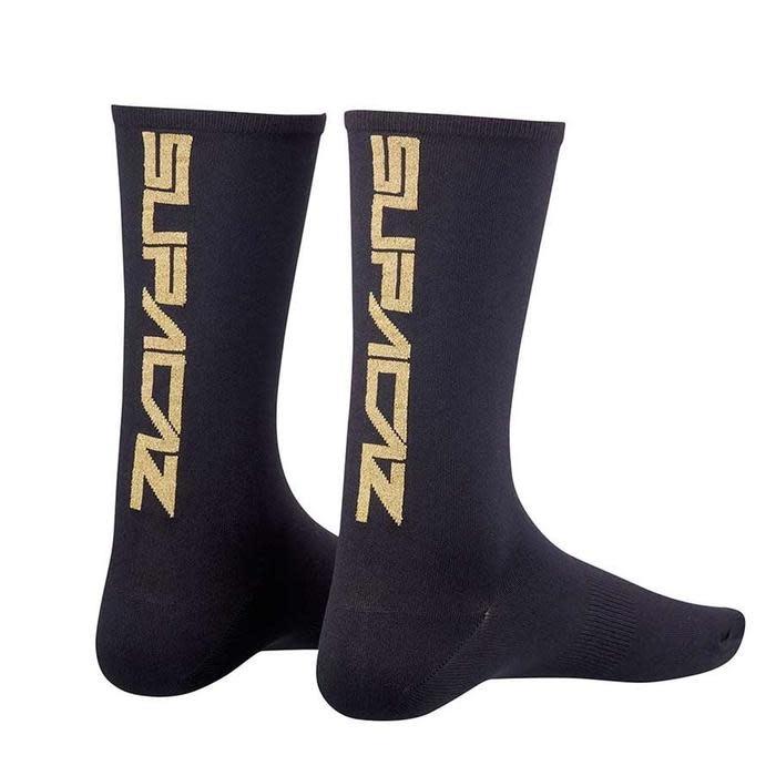 Supacaz Supacaz, Straight Up, Socks, Gold Bling, LXL, Pair
