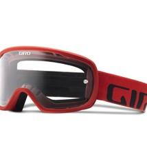 Giro Cycling Giro Tempo MTB Goggle for Dirt Biking - Red - Clear Lens