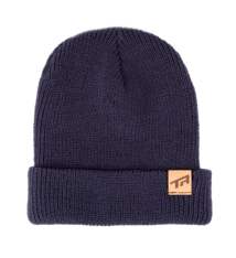 Transition TBC - Beanie Hat: TR Leather Tag (Midnight Blue)