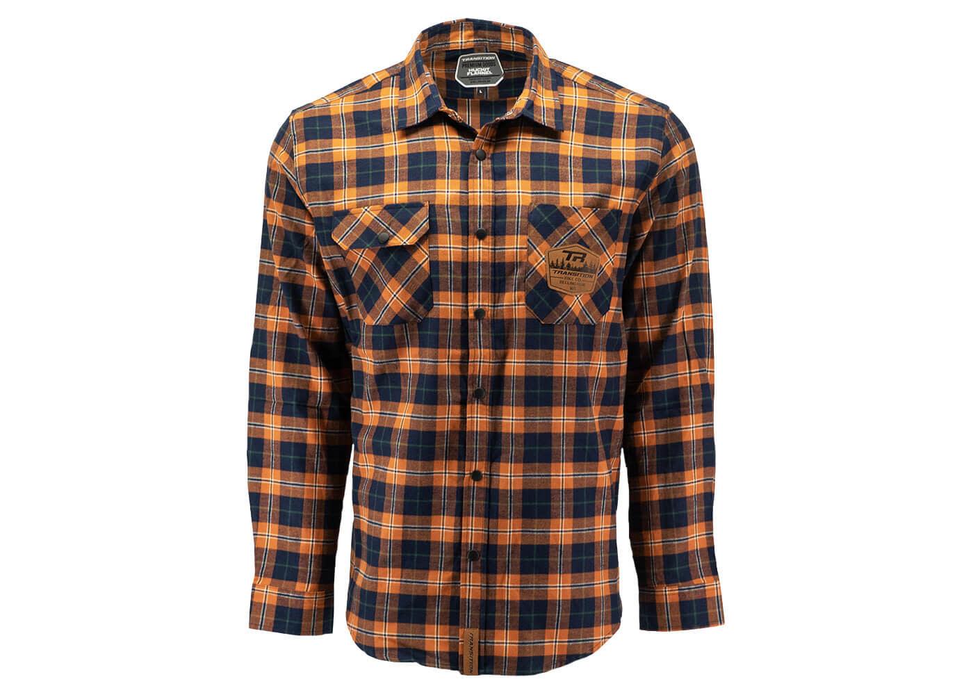 Transition TBC - Huckit Flannel (Autumn Orange Plaid, Small)