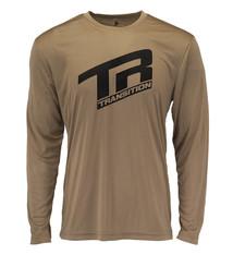 Transition TBC - Swift Jersey LS: TR Logo (Medium, Desert Tan)