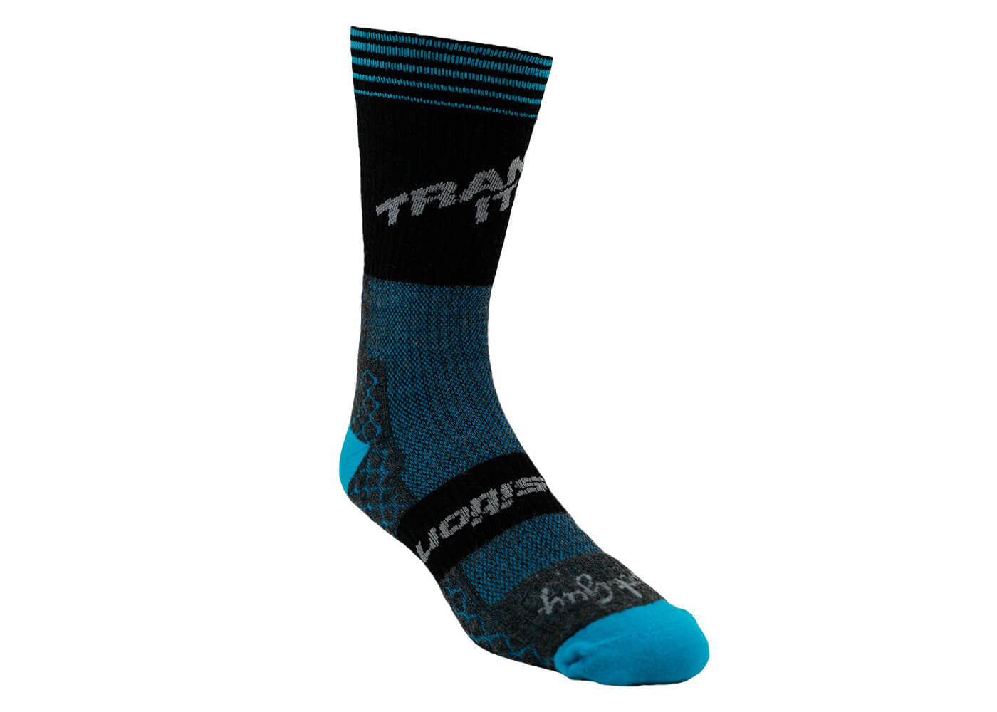 Transition TBC - Wool Winter Socks (Transition Logo, Black/Blue)