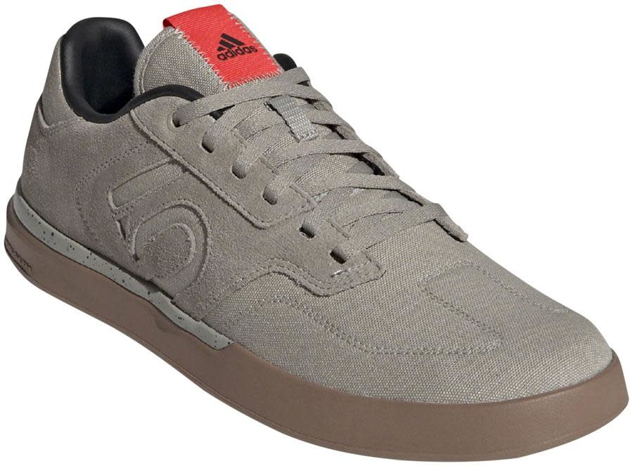 Five Ten Five Ten Sleuth Men's Flat Shoe: Shock Red/Sesame/Feather Gray 11.5