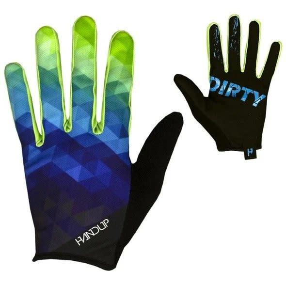 Handup Gloves - Blue / Yellow Prizm - MEDIUM