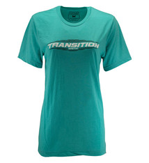 Transition Womens T-Shirt: Transition Logo (Small, Coral Blue)
