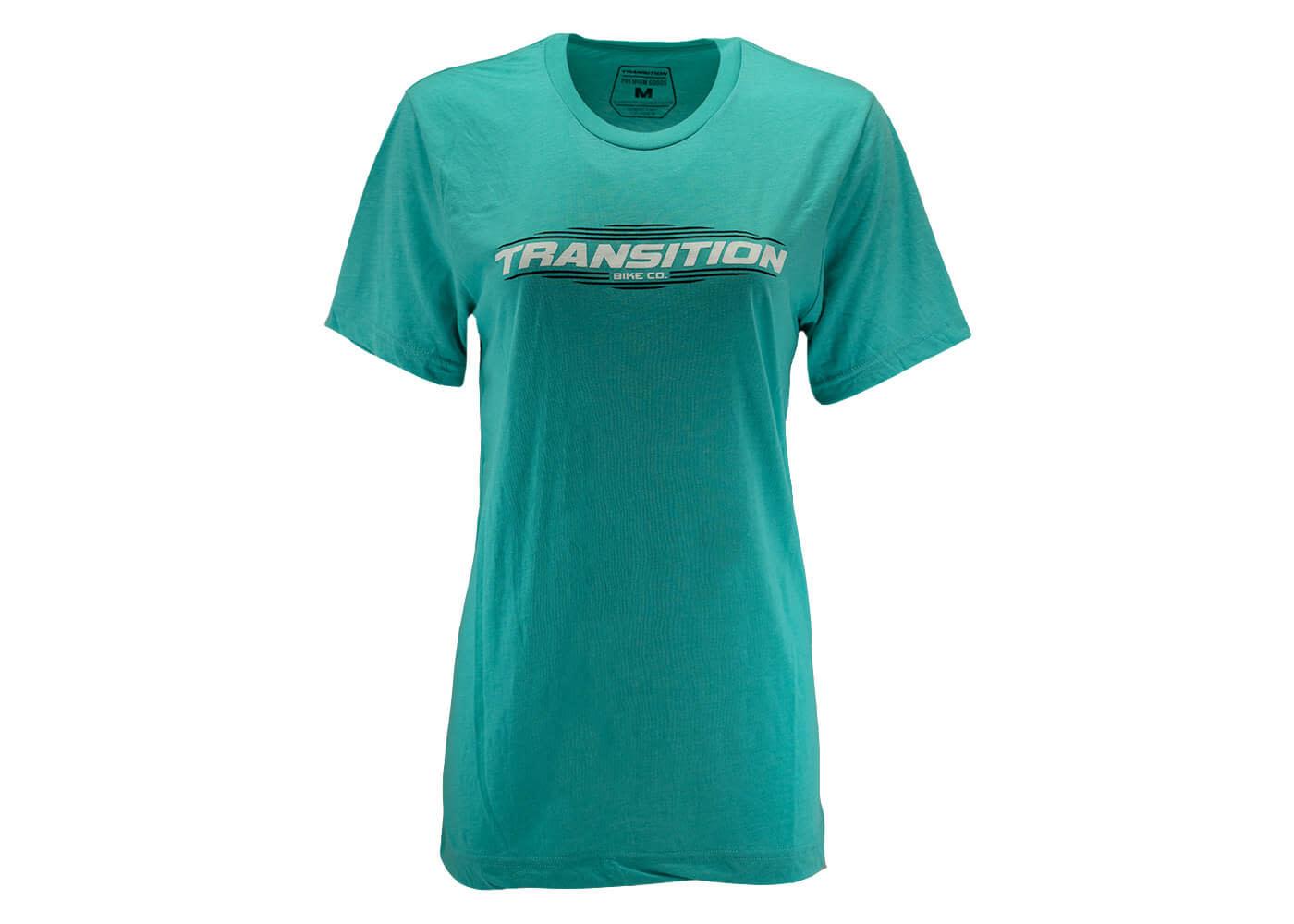 Transition Womens T-Shirt: Transition Logo (Medium, Coral Blue)