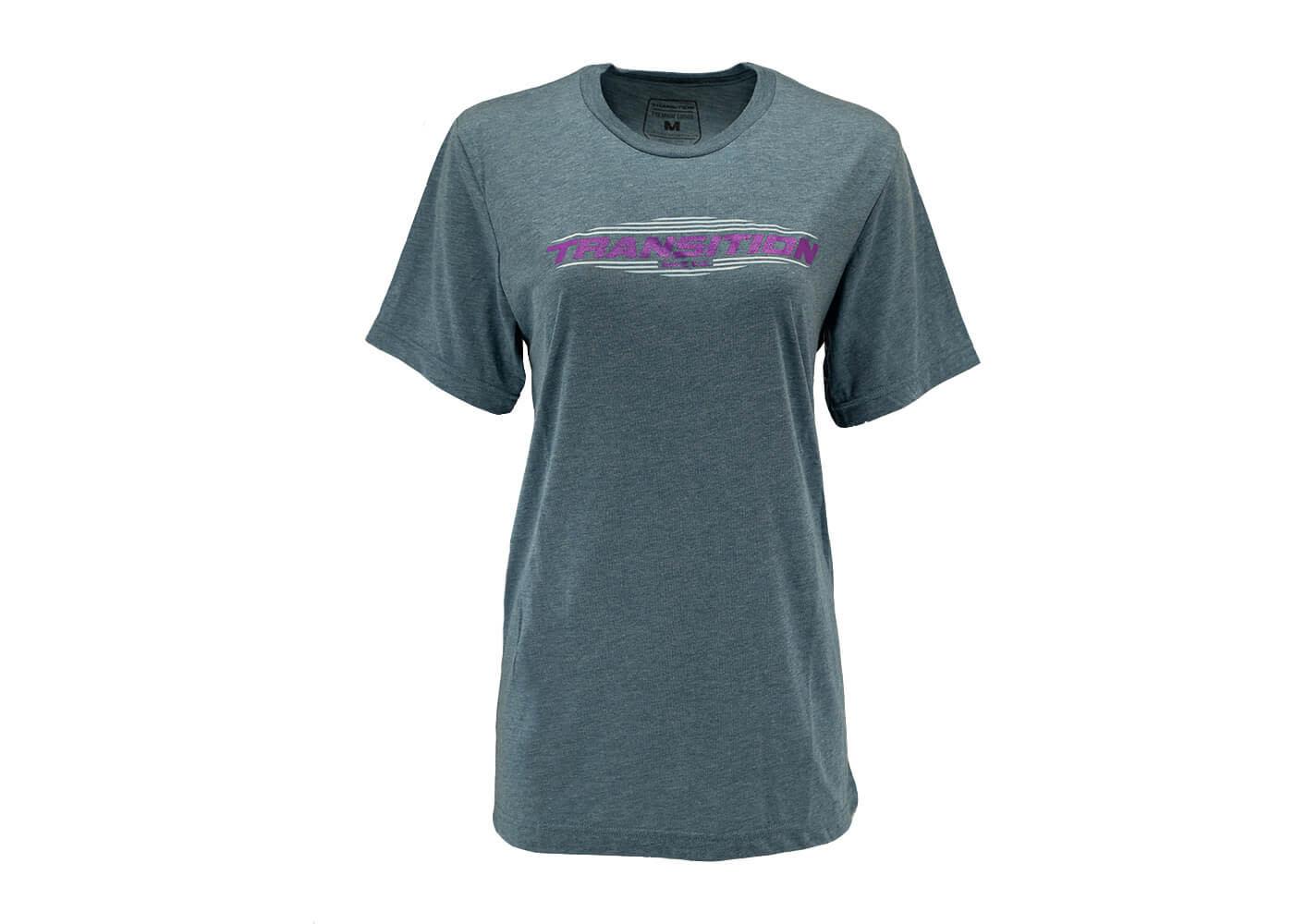 Transition Womens T-Shirt: Transition Logo (Medium, Midnight Blue)