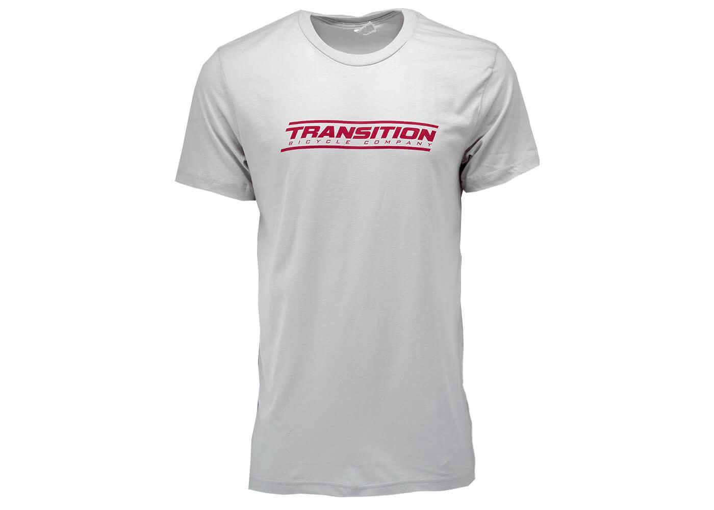 Transition Transition T-Shirt: Transition Logo (Silver & Red, Medium)