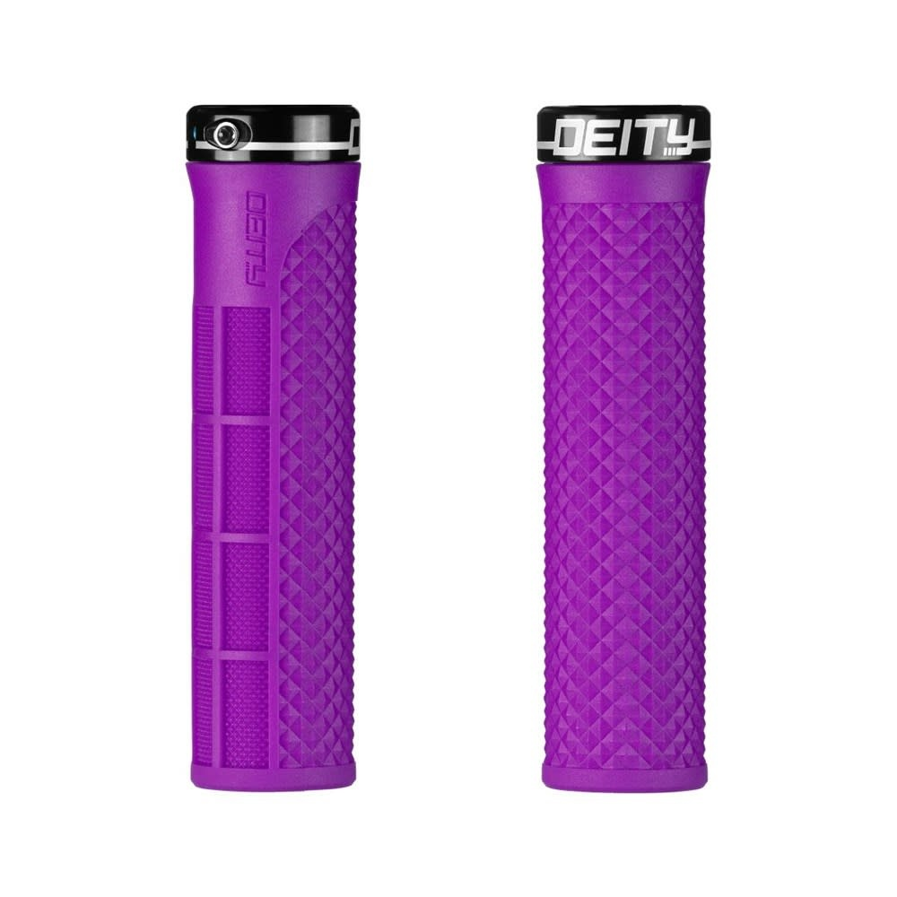 Deity Components Lockjaw Grips - Purple