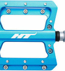 HT Components HT Components, AN14A, Nano, Platform Pedals, Body: Aluminum, Spindle: Cr-Mo, 9/16'', Blue, Pair