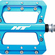 HT Components HT Components, AN14A, Nano, Platform Pedals, Body: Aluminum, Spindle: Cr-Mo, 9/16'', Blue, Pair