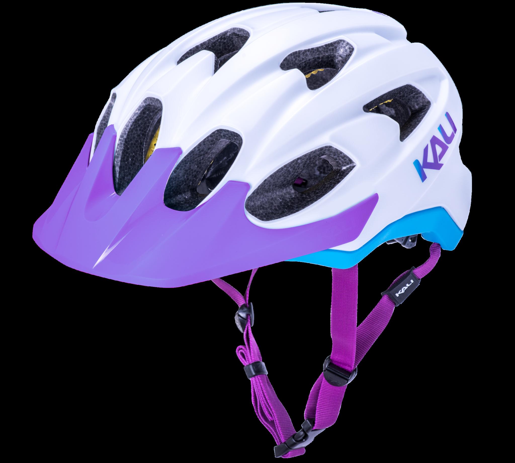 KALI Pace Trail Helmet, Wht/Blu/Prp - L/XL