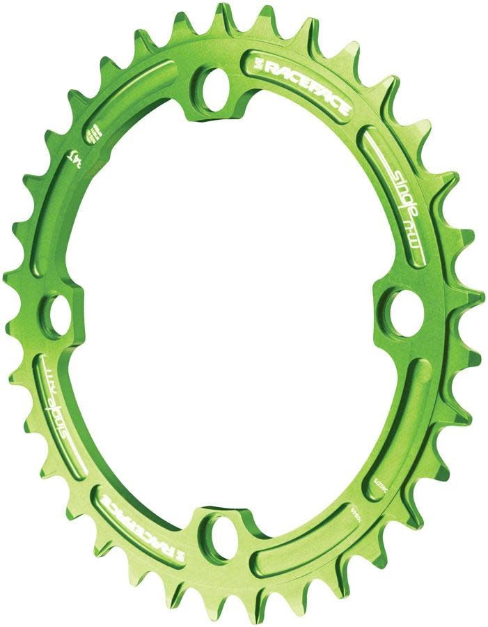 Race Face Race Face, Narrow Wide 104mm BCD, 34T Chainring, 9-12sp, BCD: 104, 7075-T6 Aluminum, Green