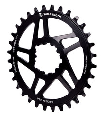 Wolf Tooth Wolf Tooth Direct Mount Chainring - 32t, SRAM Direct Mount, Drop-Stop, For SRAM 3-Bolt Boost Cranks, 3mm Offset, Black