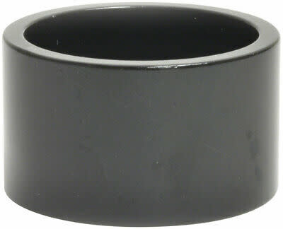 "WHEELS MANUFACTURING Wheels Manufacturing Aluminum Headset Spacer - 1-1/8"", 20mm, Black, 1-each"