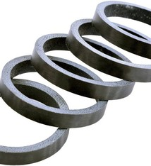 """WHEELS MANUFACTURING Wheels Manufacturing Carbon Headset Spacer - 1-1/8"""", 5mm, Matte, 5-pack"""