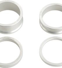 Wolf Tooth Wolf Tooth Headset Spacer Kit 3, 5, 10, 15mm, Silver
