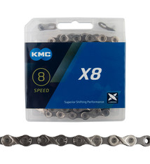 KMC KMC, X8 NP/GY, Chain, 6/7/8sp., 116 links, Silver