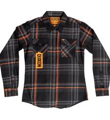FOX, Women's Flannel, Black/Orange, L
