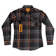 FOX, Women's Flannel, Black/Orange, L