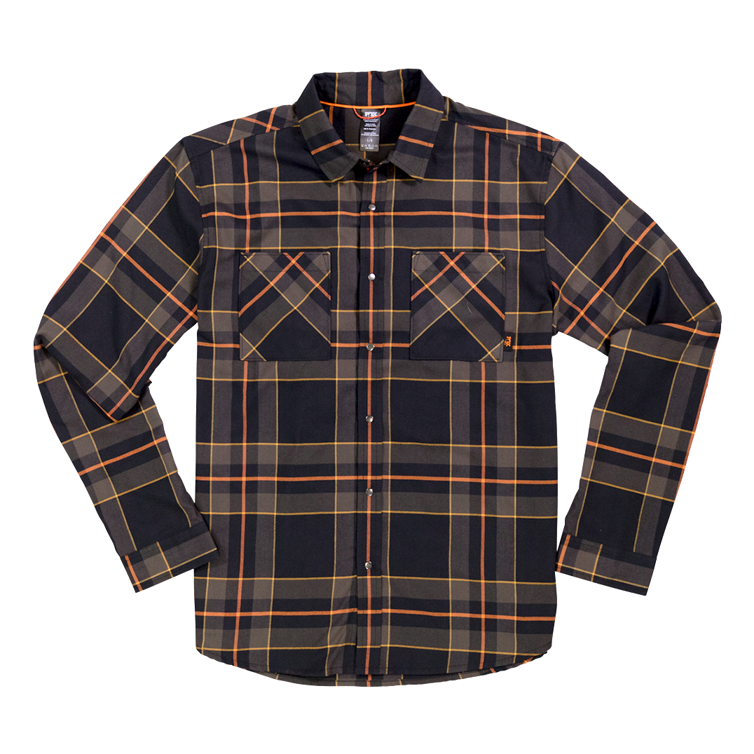 Race Face Fox Flannel-Black-XL