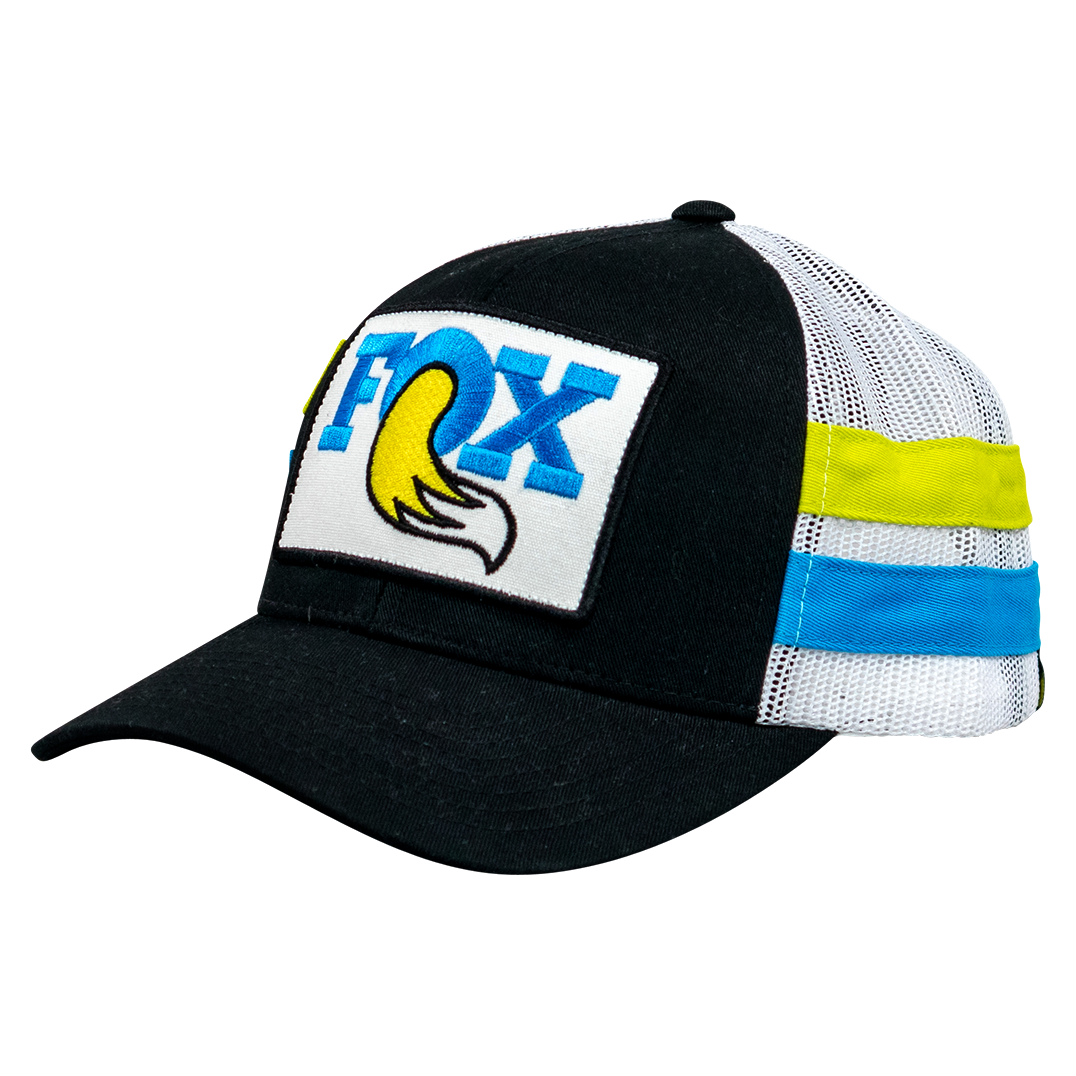Race Face Fox Throwback Trucker Snapback - Black