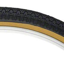 Kenda Kenda Street K52 Tire - 24 x 1.75, Clincher, Wire, Black/Tan, 22tpi