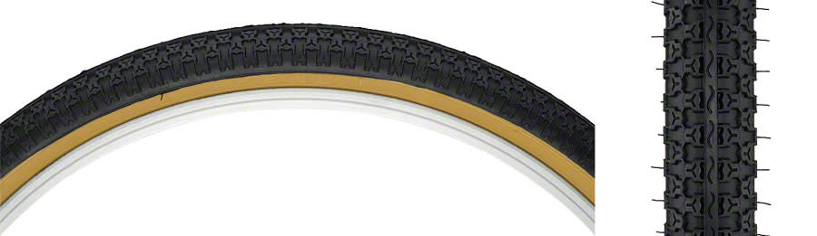 Kenda Kenda Street K52 Tire - 24 x 1.75, Clincher, Wire, Black/Tan, 22tpi
